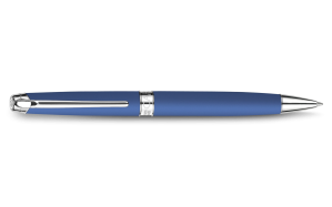 silver-plated-rhodium-coated-léman-blue-night-matt-ballpoint-pen
